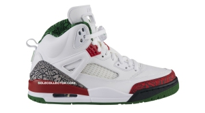 "Jordan Spiz'ike ""OG"" White/Varsity Red/Cement Grey-Classic Green"